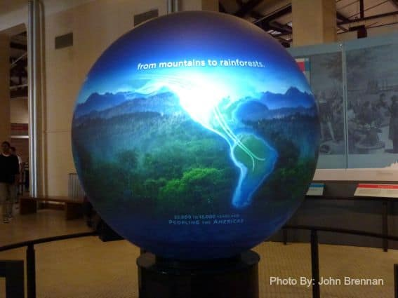 Ellis Island globe