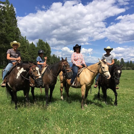 teens at dude ranch
