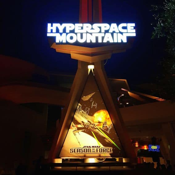 Hyperspace Mountain Season of the Force at Disneyland