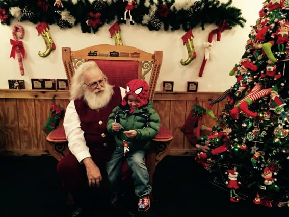 Meeting Santa Santa Claus Indiana