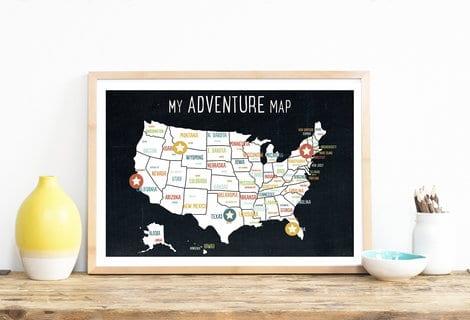 my adventure map