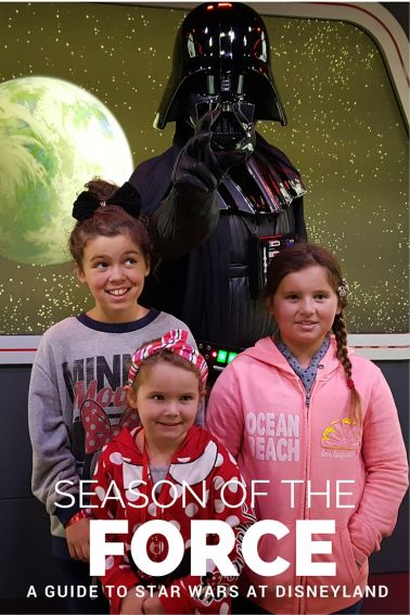 Your family's guide to The Season of the Force at Disneyland, the ultimate Star Wars celebration taking place in Tomorrowland. Includes details on rides, character encounters, food, and more!