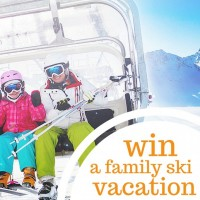 win a family ski vacation pin