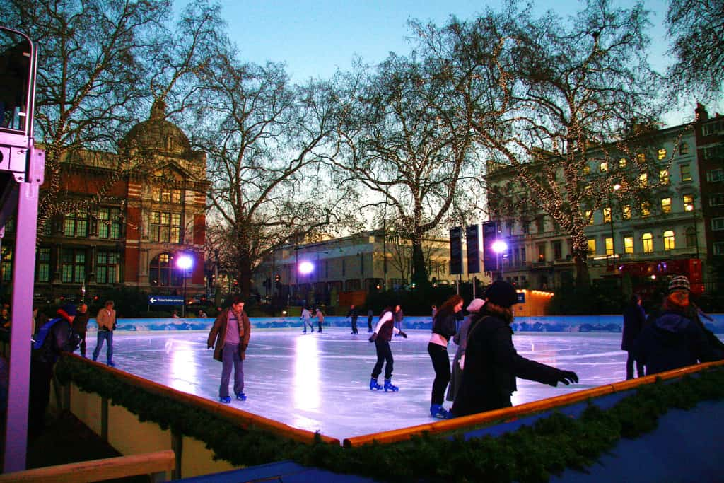 Ice skating london photo