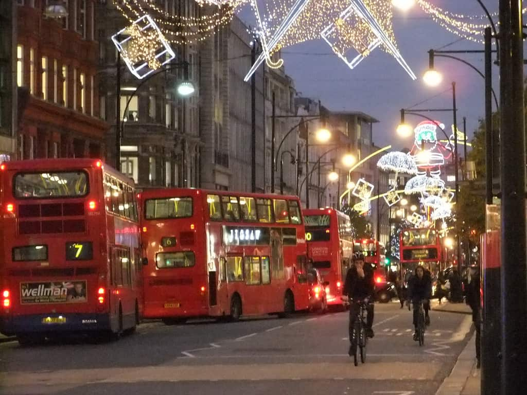 Oxford Street London christmas photo