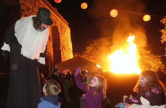 things to do in pennsylvania: the Scranton Bonfire at the Iron Furnances