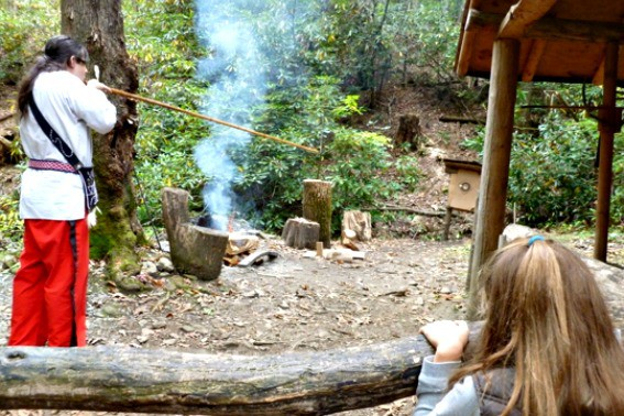 Learn Native American History at the Cherokee North Carolina Oconaluftee Indian Village