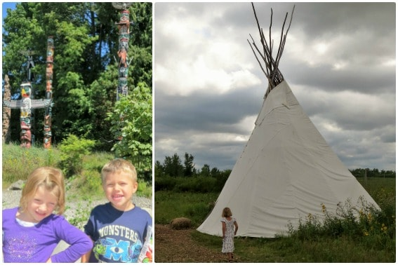 Learning Native American History in Canada: Vancouver Totem Park Winnipeg Tipi Fort Whyte Alive