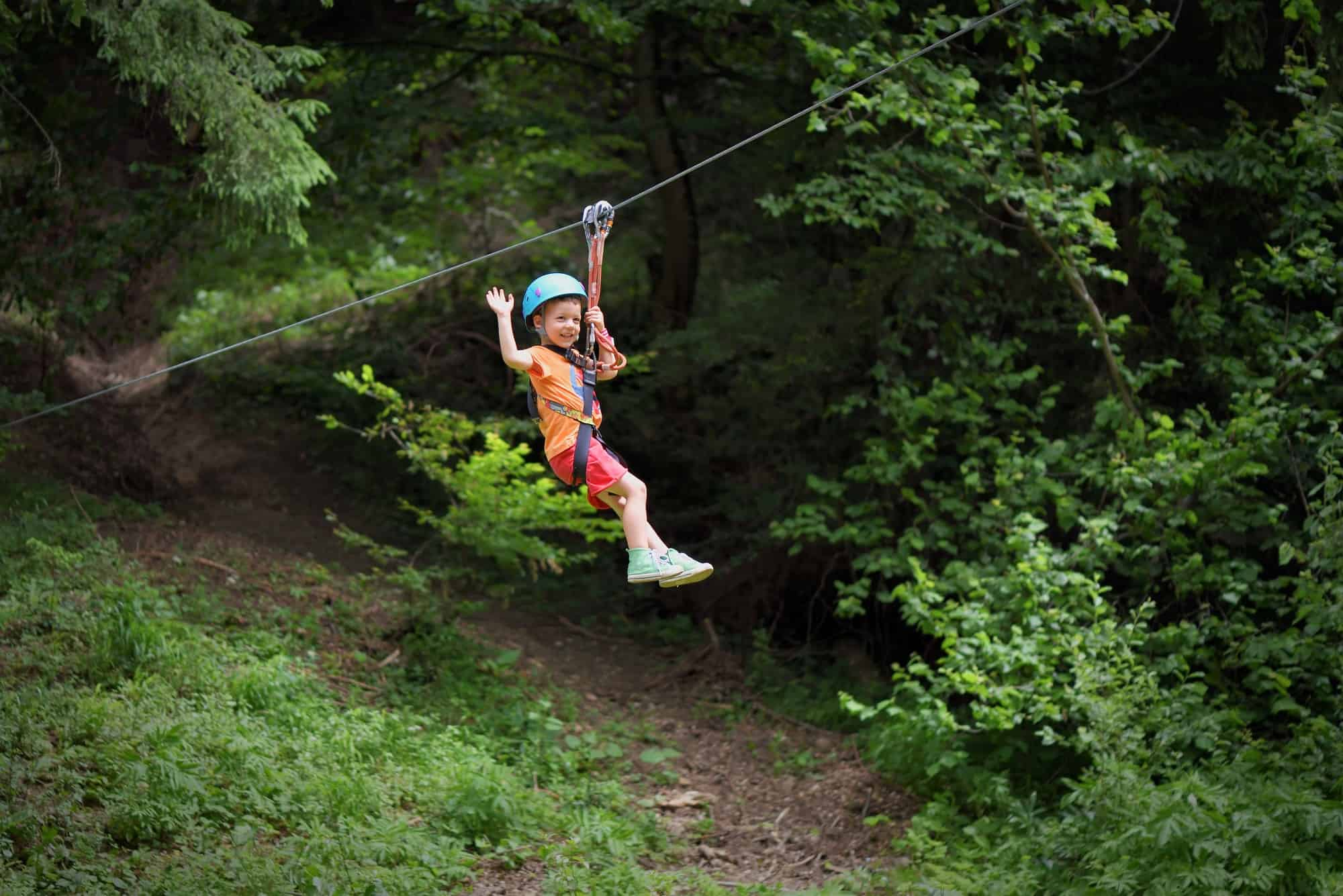 Best-US-Ziplines-with-kids-shutterstock
