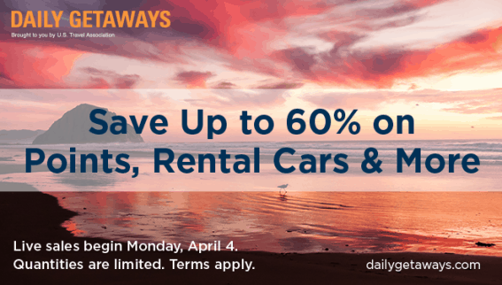 US Travel Association's Daily Getaways - 5 weeks of family vacation deals offering up to 60% off top travel brands