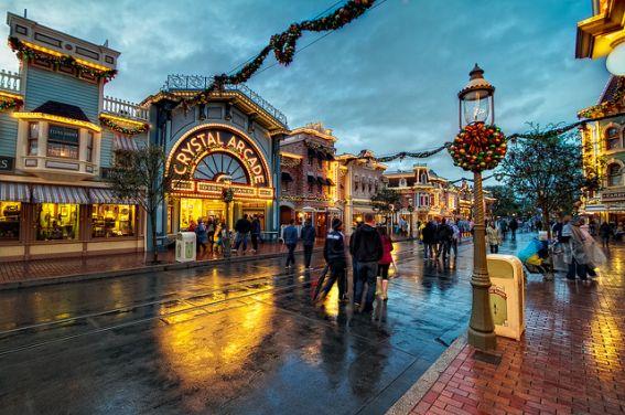 Disneyland rain