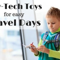 Low tech toys to save a travel day