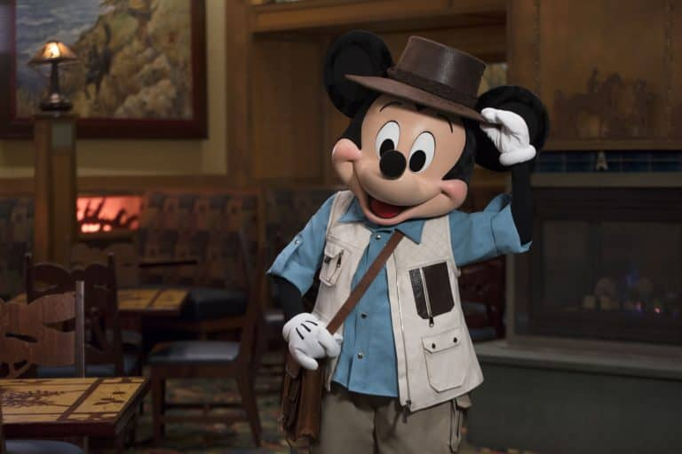 Mickey tales character dining