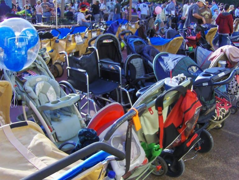Strollers at Disney World