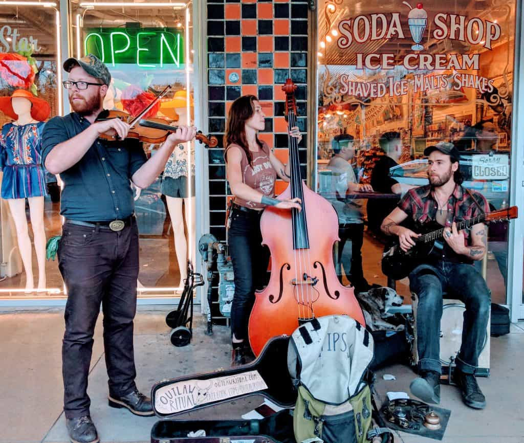 Live music on South Congress Avenue