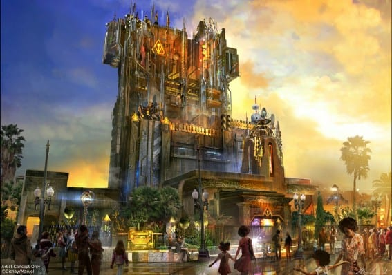 guardians of the galaxy mission breakout, new at disney california adventure