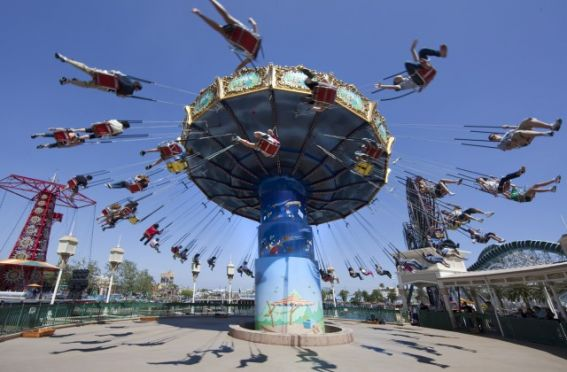 silly symphony swings are a fun option at Disney California Adventure with kids