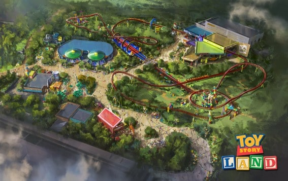 toy story land in Disney's hollywood studios