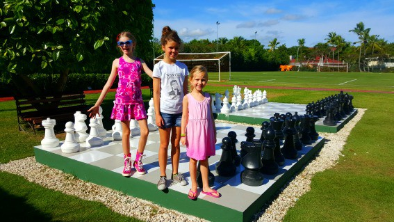 A variety of sporting and team opportunities are available at Grand Palladium in Punta Cana. Kids will love the giant chess game or mini-golf
