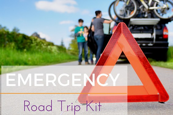 EMERGENCY Road Trip Kit What you need in your car when crossing the country or just crossing town. #roadtrip #emergencycarkit #emergency