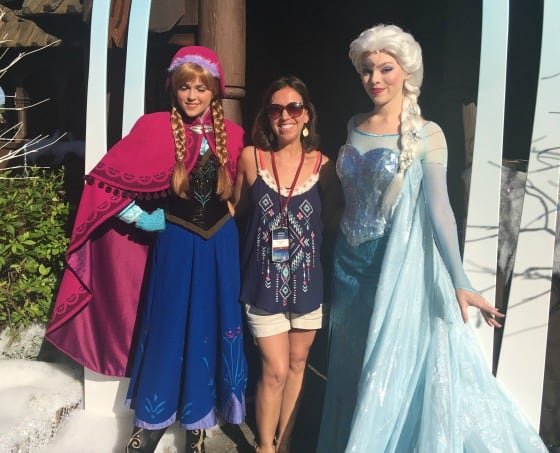 Queen Elsa and Princess Anna at Walt Disney World