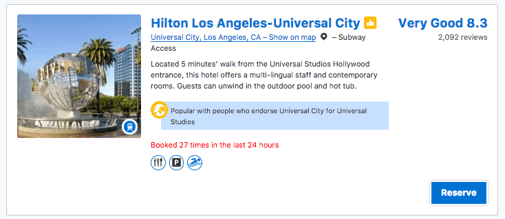 Deals on Hotels near Universal Studios Hollywood.