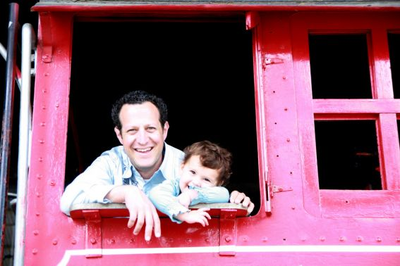 Travel Town, located in LA's Griffith Park, is the perfect place to take your train loving kids. Oh, and it's free! #trains