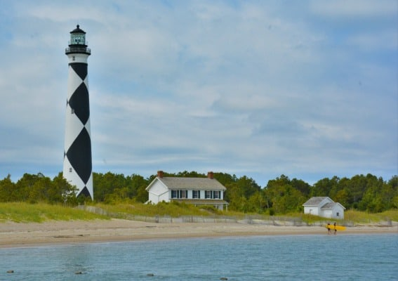 Cape Lookout Lighthouse Outer Banks New Bern, North Carolina with kids