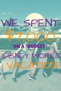 Planning a Disney World Vacation for a family of five pin
