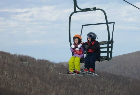 Wintergreen Resort Winter Ski School Lift Blue Ridge Mountains