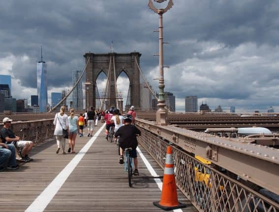 Biking the Brooklyn Bridge is an absolute must for families heading to Brooklyn with Kids.