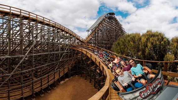 GhostRider is sailing smooth thanks to a track refurbishment and update for Knott's Berry Farm's 75th anniversary