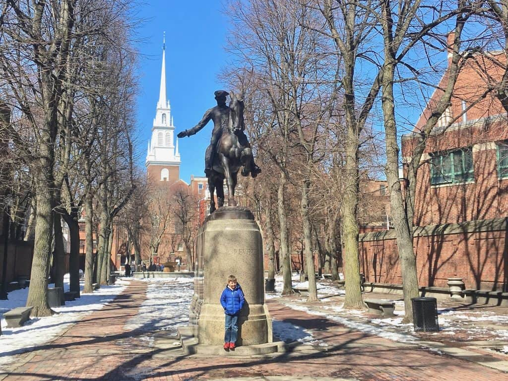 Things to do with kids in New England Freedom Trail Boston