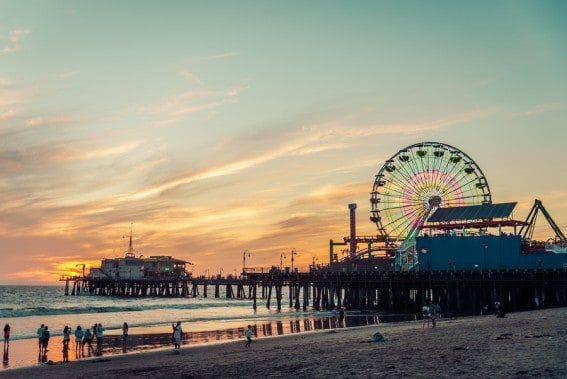 Don't miss Santa Monica when exploring Los Angeles beaches with your family