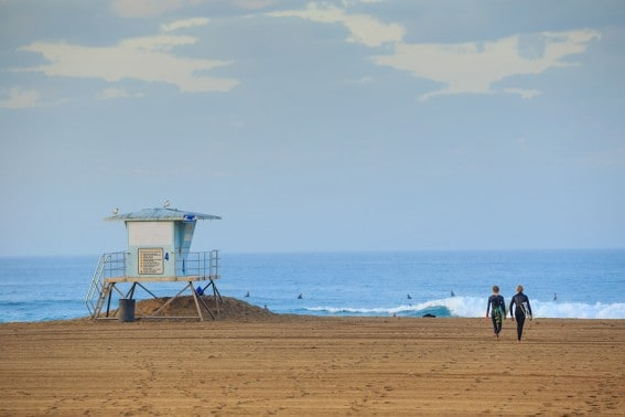 Catch the surf city fun at Huntington Beach when you hit the sand with your family in north Orange County
