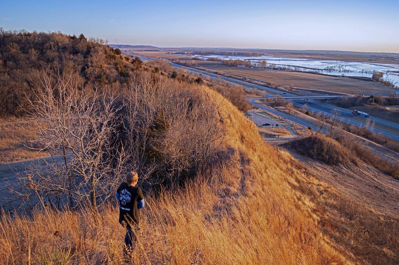 loess hills is one of the places to visit in Iowa with kids