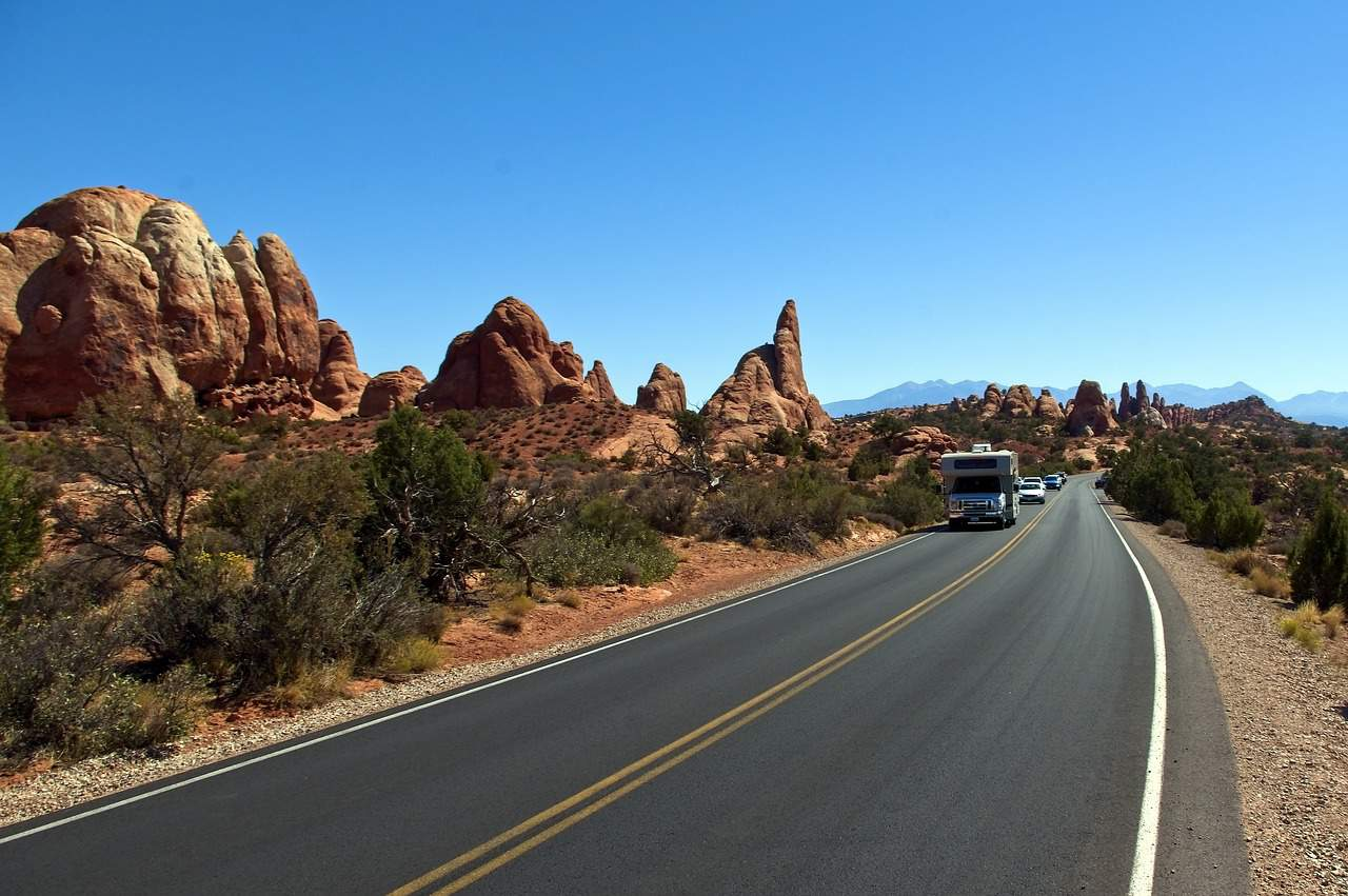 arches national park scenic drive photo