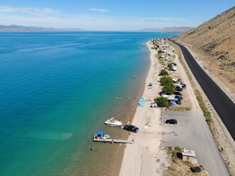Bear Lake State Park is an amazing park on the Utah Idaho border