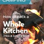 How to Assemble a Single Box Camping Kitchen 1