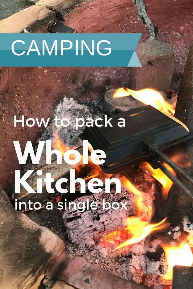 Having a camping kitchen box always packed and ready to go makes packing much easier. A shopping list of our best gear recommendations included. #FamilyTravel #trekarooing #camping