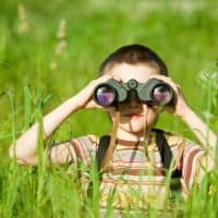 bigstock-Kid-With-Binocular-5366301