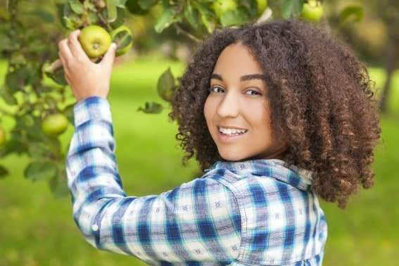 Visiting U-Pick orchards, farms, and farmer's markets is a great way to start Helping Kids Understand Where Their Food Grows