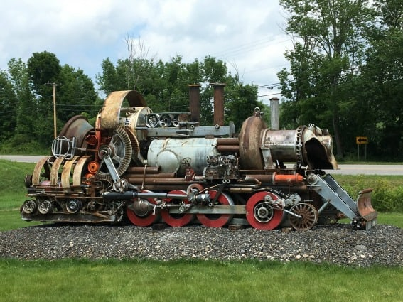 West Rutland Train Sculpture