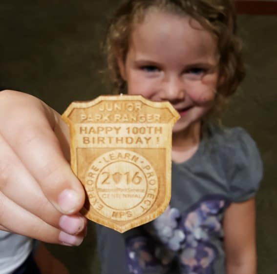 Get a Junior Ranger badge while visiting in the park