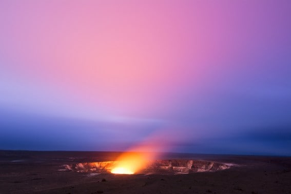 Hawaii Volcanoes National Park Crater views at night are a must for visitors