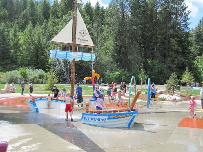 McEuen Park in Coeur d'Alene Idaho offers fun for families