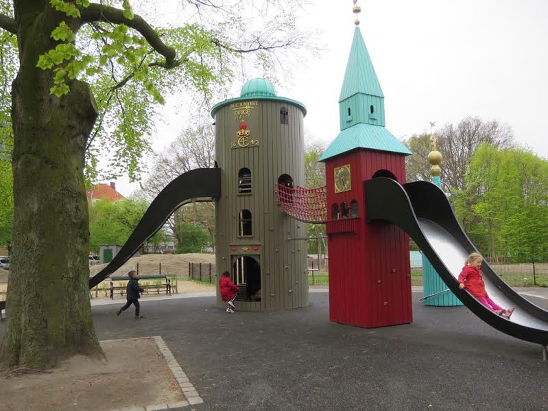 Playgrounds in Copenhagen, Denmark are fantastically themed and great for families