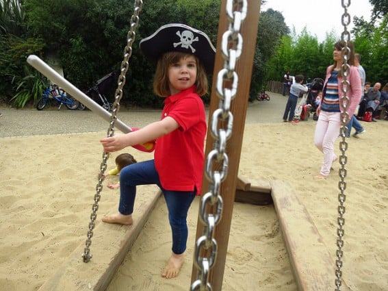 The Diana Memorial Playground in London, England boasts a pirate-ship theme
