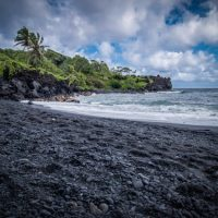 family friendly black sand beach on the big island of hawaii