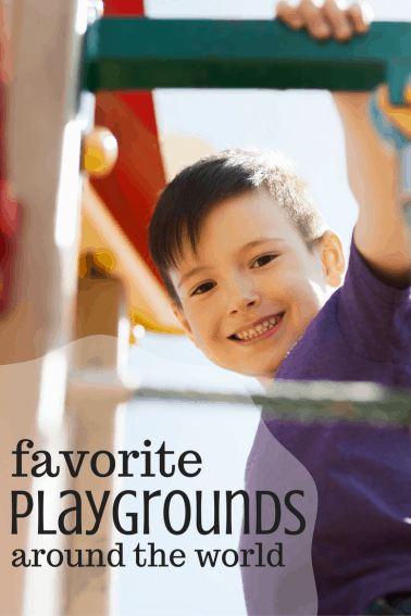 Slide, Jump, & Run Amok at these Playgrounds Worldwide- These kid-friendly favorites will help your kiddos get their energy out while having a ton of fun! What is your favorite playground to visit while at home or traveling? #FamilyTravel #playgrounds #trekarooing